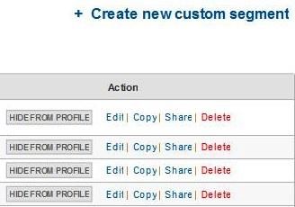 Google Analytics Advanced Segments Sharing